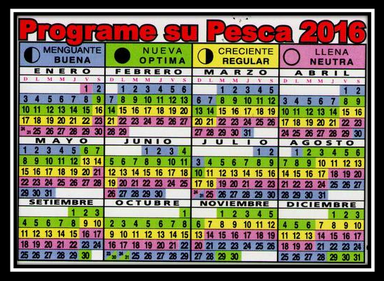Calendario pesca 2016