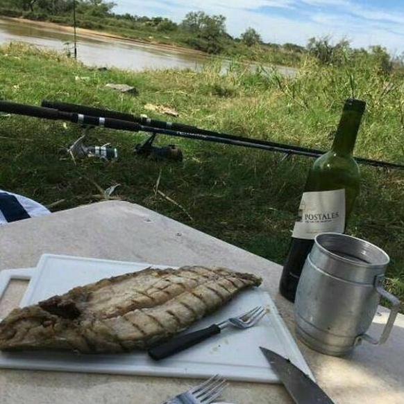 Pescado vino