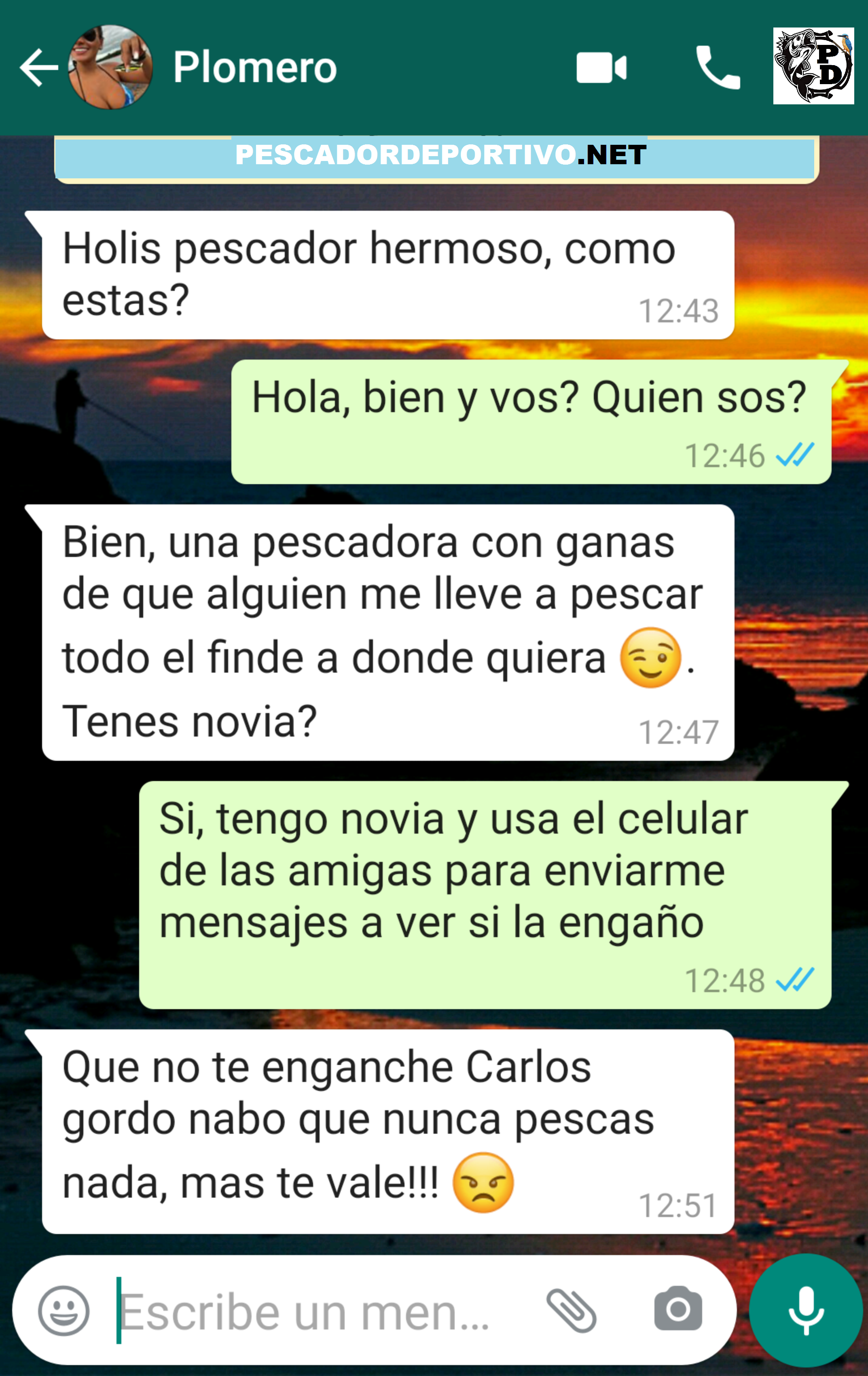 CHAT PESCADOR ENGAÑO
