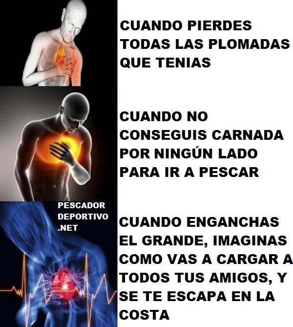 Problema cardiaco pesca
